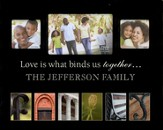 Personalized, Photo Frame, Family, Black