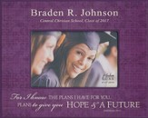 Personalized, Print Photo Frame, Graduation, 4x6,Purple