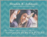 Personalized, Print Photo Frame, Graduation, 4x6, Teal