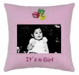 It's a Girl Photo Pillow