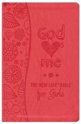 God Hearts Me New Life Bible for Girls, Flexible plastic/vinyl cover