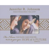 Personalized, Photo Frame, Graduation, 4x6, Purple