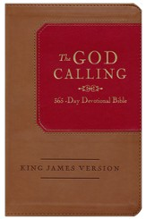 KJV God Calling 365-Day Devotional Bible--tan/burgundy