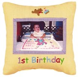 1st Birthday Photo Pillow