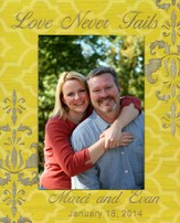 Personalized, Print Photo Frame, Love Never Fails, 5x7, Yellow