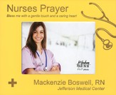 Personalized, Photo Frame, Nurses Prayer, 5x7, Yellow