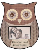 Personalized, Photo Frame, 3x5, Owl, Brown
