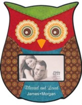 Personalized, Photo Frame, Owl Red