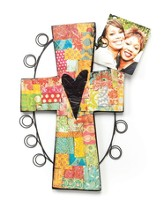 Wall Cross Photo Holder
