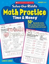 Solve-the-Riddle Math Practice: Time & Money