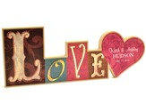 Personalized, Block Word Plaque, Love