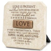 Love Plaque, Bronze Bar