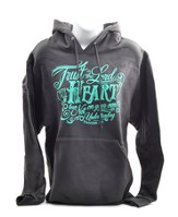 Trust In the Lord with All Your Heart, Hooded Sweatshirt, Gray, Small