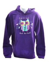 God Is Good, Hooded Sweatshirt, Purple, Large