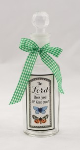 The Lord Bless You and Keep You Glass Bottle