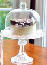 He Fills Our Life With Good Things Cake Stand