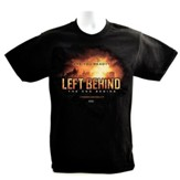 Left Behind Logo, Short Sleeve Regular Fit Tee Shirt, Black, Adult Large