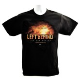 Left Behind Logo, Short Sleeve Regular Fit Tee Shirt, Black, Adult X-Large