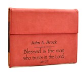 Personalized, iPad Case, Blessed is the Man, Red