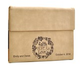 Personalized, iPad Case, Faith Hope Love, Tan