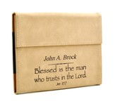 Personalized, iPad Case, Blessed is the Man, Tan