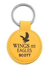 Personalized, Keychain, Round, Eagle, Yellow