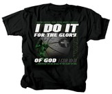 I Do It For the Glory Of God, Basketball Shirt, Black, Youth Large