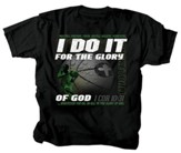 I Do It For the Glory Of God, Basketball Shirt, Black, Youth Medium