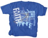 Faith, Look No Hands Shirt, Blue,  Youth Large