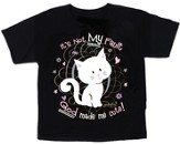It's Not My Fault God Made Me Cute, Kitty Shirt, Black, Youth X-Small