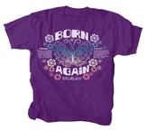 Born Again Shirt, Purple, Youth Large