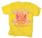 Jesus Couture Shirt, Yellow, Youth Medium