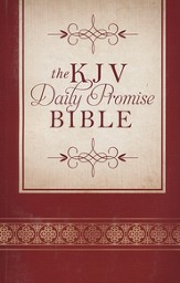 The KJV Daily Promise Bible: The Entire Bible Arranged in 365 Daily Readings-Featuring One of God's Promises for Every Day of the Year, paperback - Slightly Imperfect