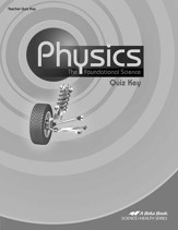 Physics: The Foundational Science Quiz Key