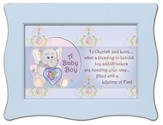To Cherish and Love Framed Plaque, Blue