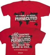 Persecuted Church, Short Sleeve Regular Fit Tee Shirt, Red, Adult 4x-Large