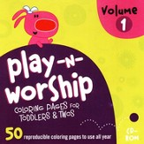 Play-n-Worship for Toddlers and Twos Coloring Pages, Volume 1, CDROM