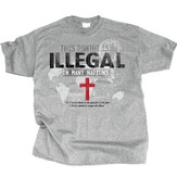 The T-Shirt Is Illegal In Many Nations Shirt, Gray, Medium
