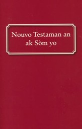 Haitian New Testament with Psalms, softcover Red  - Slightly Imperfect