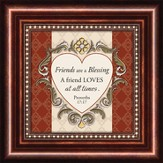 Friends, Proverbs 17:17, Mini Framed Print