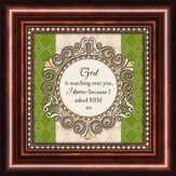 God Is Watching, Mini Framed Print
