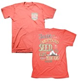 Mustard Seed, Short Sleeve Adult Fit Tee Shirt, Coral Silk, Adult 2x-Large