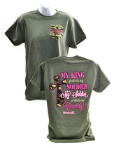 My Soldier, Short Sleeve Adult Fit Tee Shirt, Military Heather, Adult Medium