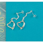 Open Heart Cross Earrings