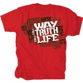 The Way, The Truth, The Life Shirt, Red, Medium