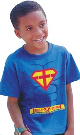 Super Power, Short Sleeve Kidz Fit Tee, Royal, Youth Large