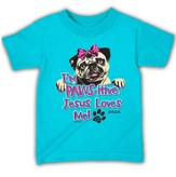 Pawsitive, Short Sleeve Toddler Fit Tee, Turquoise, Toddler 5t