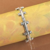 Beaded Cross Stretch Bracelet