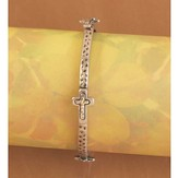 Antique Hammered Cross Bracelet