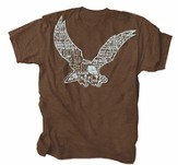 Eagle, Wings Like Eagles, Fly Shirt, Brown, XX-Large